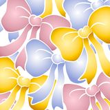 Pastel Bows Background Pattern stock images