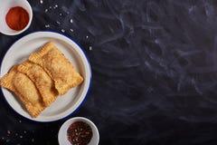Pastel brésilien de nourriture homemade images stock