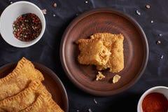 Pastel brésilien de nourriture homemade photos stock