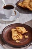 Pastel brésilien de nourriture homemade photographie stock