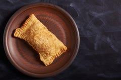 Pastel brésilien de nourriture homemade Copyspace photo libre de droits