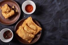 Pastel brésilien de nourriture homemade Copyspace photos libres de droits
