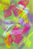 Pastel: Brightly Colored Abstract Background. Handmade pastel done by the photographer: I hold copyright on the image Stock Photos