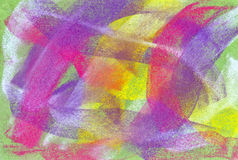 Pastel: Brightly Colored Abstract Background. Handmade pastel done by the photographer: I hold copyright on the image Stock Images