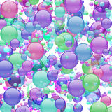 Pastel Bubble Explosion Stock Photo