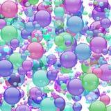 Pastel Bubble Explosion Stock Photo