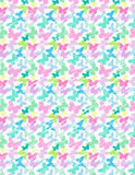 Pastel Butterflies Background Pattern Royalty Free Stock Images
