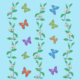 Pastel butterflies illustration Stock Photography