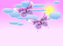 Pastel butterfly background Royalty Free Stock Photo