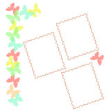 Pastel butterfly scrapbook Royalty Free Stock Image
