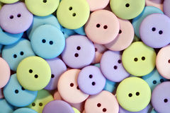 Pastel Buttons. A collection of pastel colored buttons Stock Photo