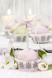 Pastel cake pops in romantic spring set Royalty Free Stock Photos