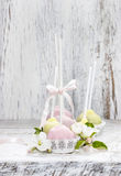 Pastel cake pops in romantic spring set Royalty Free Stock Image