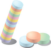 Pastel Candy Stock Photo