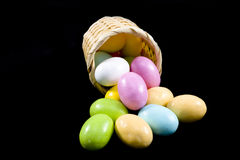 Pastel candy coated Easter chocolates Stock Photography