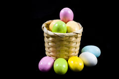 Pastel candy coated Easter chocolates Royalty Free Stock Photography