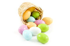 Pastel candy coated Easter chocolates Royalty Free Stock Image