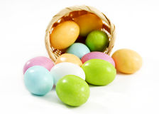 Pastel candy coated Easter chocolates Stock Photo