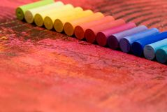 Pastel chalk Stock Photography