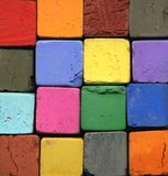 Pastel Chalk. A field of pastel chalk in different Colours royalty free stock photo