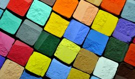 Pastel chalk background. Background of colourful pastel chalk cubes Royalty Free Stock Photo