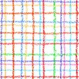Seamless checkered pattern on white. royalty free illustration