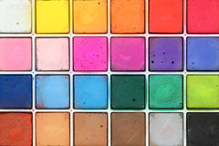 Pastel chalks. Assortment of pastel chalks in plastic tray Royalty Free Stock Images