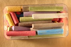 Pastel chalks Stock Photos