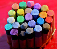 Pastel chalks. Complet of pastel chalks for drawing and painting Royalty Free Stock Photo