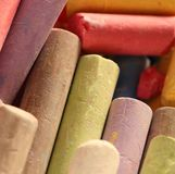 Pastel chalks in heap Stock Image