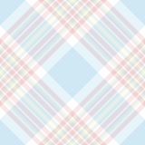 Pastel check diagonal fabric texture seamless pattern Royalty Free Stock Photo