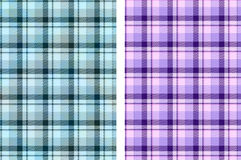 Pastel check patterns Stock Photography