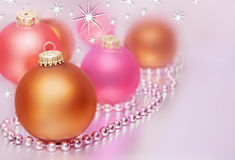 Pastel christmas balls Royalty Free Stock Images