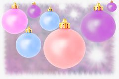 Pastel christmas balls Royalty Free Stock Photography