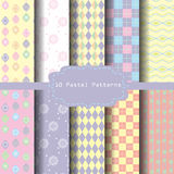 Pastel christmas patten set 8 Royalty Free Stock Photography