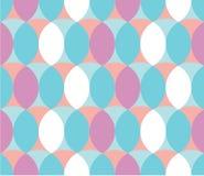 Pastel Circle Pattern. Seamless Colourful Retro Circle Pattern Stock Images