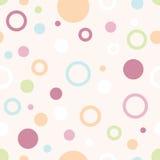 Pastel Circles Pattern Stock Image