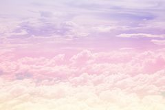 Pastel cloudy sky. Pastel sky with texture of cloud stock images
