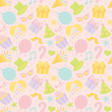 Pastel color background with party goods. Stock Image