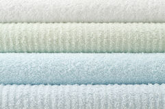 Pastel color bath towels Stock Image