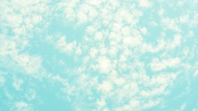 Pastel color blue sky and white clouds nature background royalty free stock image