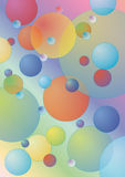 Pastel color bubbles  background Stock Images