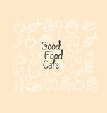 Pastel color cafe background. Royalty Free Stock Images