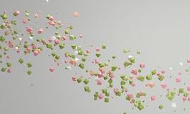 Pastel color candy background pink and green,  lovely pastel bac Stock Photo