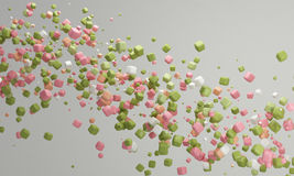 Pastel color candy background pink and green,  lovely pastel background Stock Photos