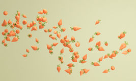 Pastel color carrot background , lovely pastel background 3d ren Stock Images