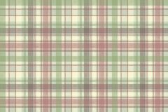 Pastel color check plaid fabric seamless pattern. Vector illustration Stock Photos