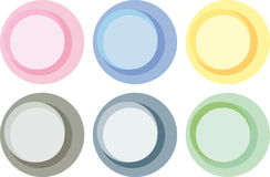 Pastel color circle labels Royalty Free Stock Photography