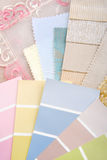 Pastel color design selection Royalty Free Stock Images