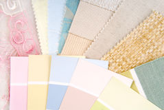 Pastel color design selection Royalty Free Stock Image